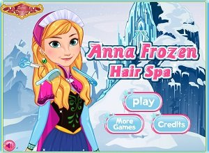 Anna Frozen Hair Spa - Frozen Games