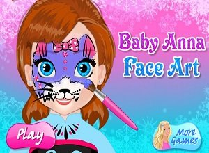 Baby Anna Face Art - Frozen Games