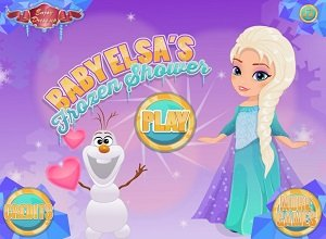 Baby Elsa's Frozen Shower - Frozen Games