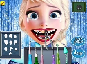 Elsa Dentist - SNES Retro Online Arcade Game