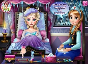 Elsa Frozen Flu Doctor - Frozen Games