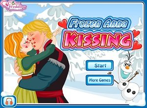 Frozen Anna Kissing - Frozen Games