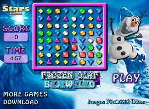 Olaf Bejeweled - Frozen Games