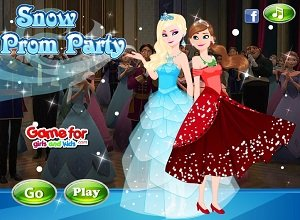 Snow Prom Party - Frozen Games